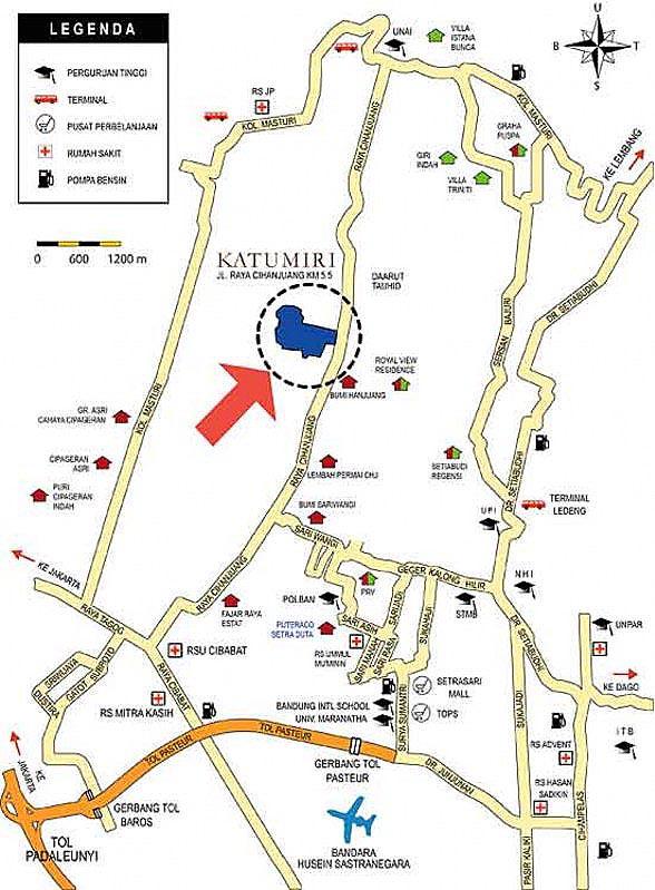 Peta Lokasi Wisata Outbond Katumiri Outdoor Activities Bandung